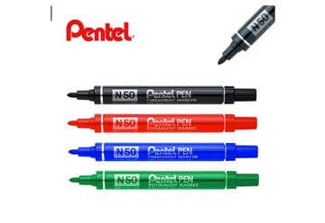 Immagine di Pentel pen n50 rosso 12pz