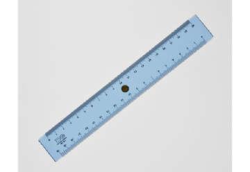 Immagine di Doppio decimetro 20 cm graduazione a mm con pomello