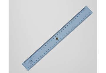 Immagine di Triplo decimetro 30 cm graduazione a mm con pomello