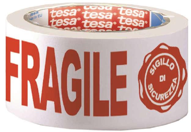 Immagine di Nastro stampato PPL Fragile+Sigillo di sicurezza 66m x 50mm