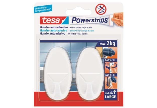 Immagine di tesa Powerstrips® Large gancio ovale bianco