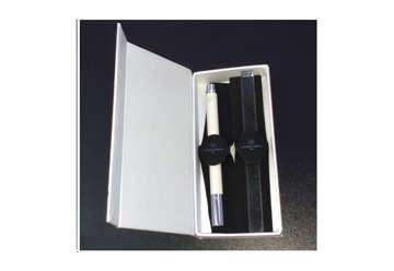 Immagine di Kacò S punta fine bianco + righello quadro 15cm