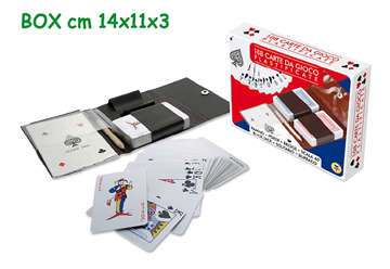 Immagine di Carte gioco 2 mazzi da 54pz ed astuccio in plastica