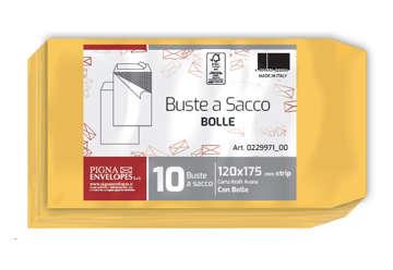 Immagine di Busta avana a sacco con bolle aria formato 01 Interno 100x165mm