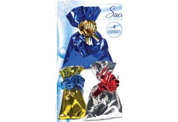 Immagine di Busta regalo sacchetto opaco 15x25cm 100pz col assortiti