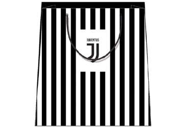 Immagine di Shopper Juventus con righe verticali e logo