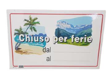 Immagine di Cartelli Chiuso per Ferie Cartoncino 300gr 20 pezzi