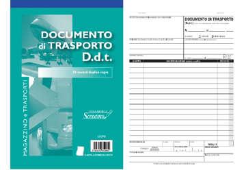 Immagine di Blocco Documento di Trasporto 50/50 fogli autocopianti f.to 148x228