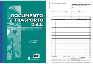 Immagine di Blocco Documento di Trasporto 50/50 fogli autocopianti f.to 228x297