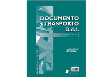 Immagine di Blocco Documento di Trasporto 50/50/50 fogli autocopianti f.to 228x297