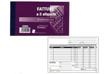 Immagine di Blocco Fatture 3 Aliquota 50/50 fogli autoricalcanti f.to 228x148