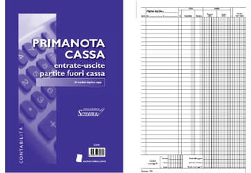 Immagine di Blocco Primanota (entrate/uscite partite fuori cassa) 50/50 fogli autoric. F.to 228x297