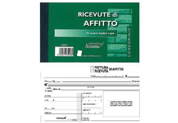Immagine di Blocco Ricevute/Fatture Affitto 2 copie 10x17cm