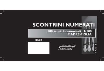 Immagine di Blocco Scontrini Numerati 1-100 madre/figlia colori assortiti f.to 155x280