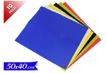 Immagine di Busta 10pz Foglio eva 50x40cm colori assortiti