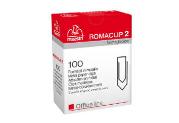 Immagine di Graffette - fermagli Romaclip 2/100 Fogli zincati