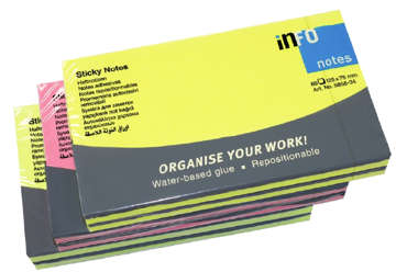 Immagine di Post-it fluo sticky notes 12.5x7.5cm