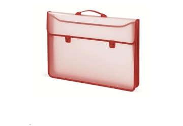 Immagine di Cartella porta disegni in PP semitrasparente rossa 52x37x6cm