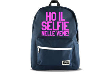 """Immagine di Zaino lunatik """"ho il selfie nelle vene"""""""