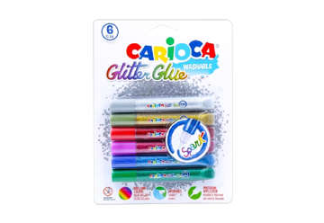 Immagine di Glitter glue colori primari 6pz