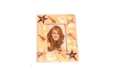 Immagine di Portafoto legno sabbia e conchiglie 12.5cm