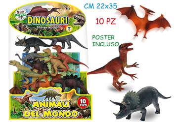 Immagine di Geo Nature - Dinosauri rigidi 10pz con poster
