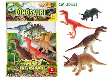 Immagine di Geo Nature - Dinosauri rigidi 6pz