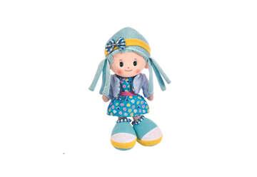 Immagine di Bambola di pezza capelli azzurri 50cm