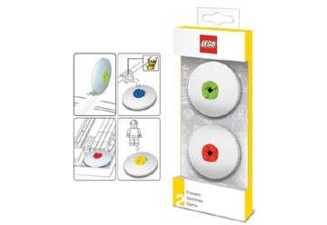 Immagine di Confezione 2 gomme rosso e lime Lego