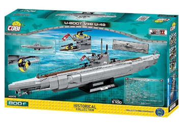 Immagine di 4805 COBI SUBMARINE U-BOOT U-48 HISTORICAL COLLECTION 800PZ