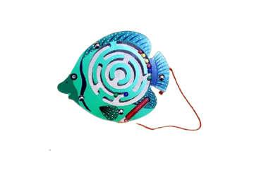 Immagine di Labirinto legno pesce 6 colori assortiti