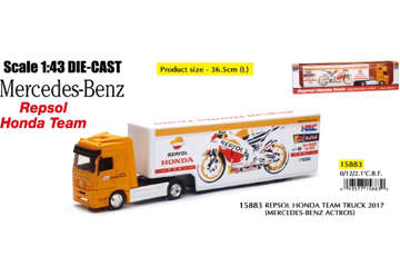 Immagine di Mercedes-Benz camion team Honda scala 1:43