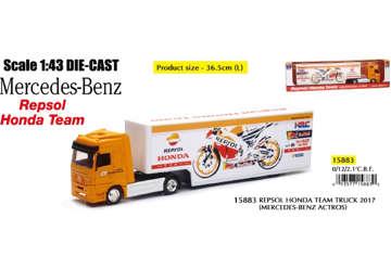 Immagine di Mercedes-Benz camion team Honda scala 1:43