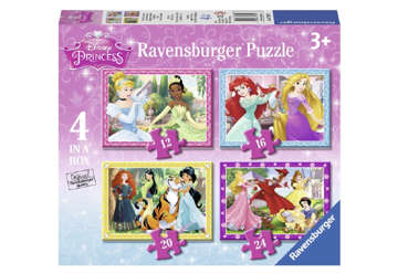 Immagine di Puzzle 4 in a box Principesse Disney