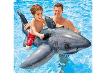 Immagine di Cavalcabile squalo bianco 173x107cm