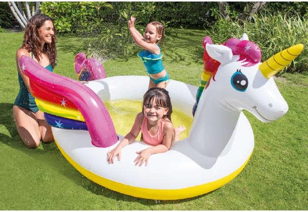 Immagine di Piscina unicorno con spruzzino kids 272x193x104cm