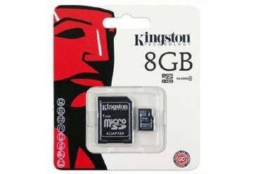 Immagine di Kingston Micro SD  8GB Class S4
