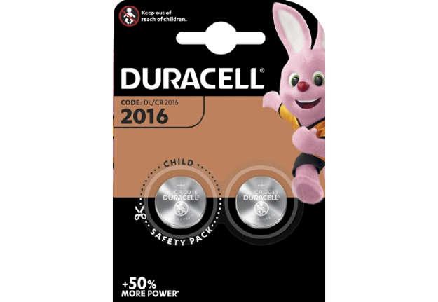 Immagine di Batteria Duracell 2016 blister da 2PZ