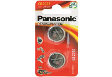 Immagine di Blister 2 micropile a litio panasonic cr2025