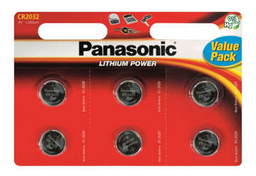 Immagine di Blister 6 micropile a litio panasonic cr2032