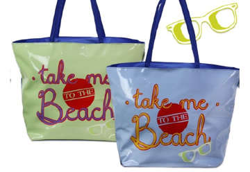 "Immagine di Borsa mare ""take me to the beach"" 56x23x40cm"