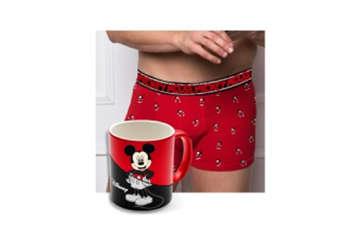 Immagine di Mickey Mouse tazza in scatolacon boxer tg S/XL