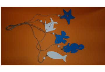 Immagine di Cordini soggetti marini in legno
