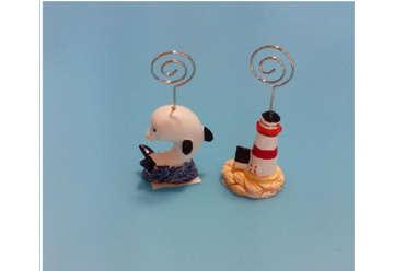Immagine di Reggifogli soggetti marini in resina