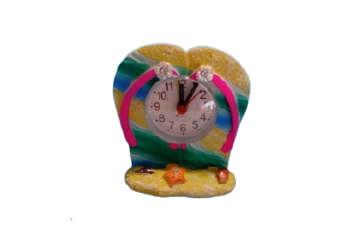 Immagine di Ciabatte resina con orologio 2 modelli assortiti