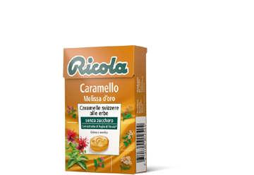 Immagine di Astuccio Ricola Caramello e Melissa d'oro 50gr