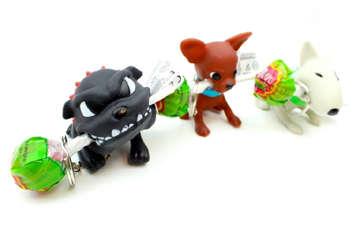 Immagine di Lecca Doggy gr10,5 + portachiave  expo 12pz