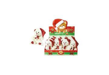 Immagine di Orsetto Natale con sciarpa e cappello