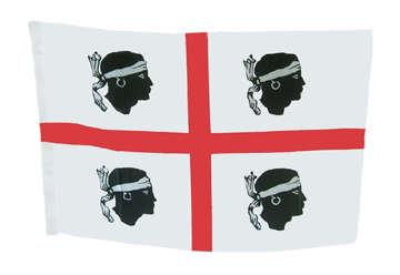 Immagine di Bandiera 4 mori 40x60 con asta