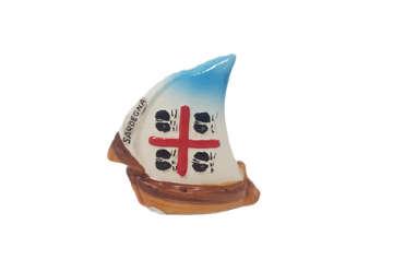 Immagine di Barca ceramica Sardegna 8.5x9cm